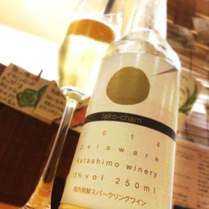 【大阪産スパークリングワイン】たこシャン <-粉もんにもよく合います!